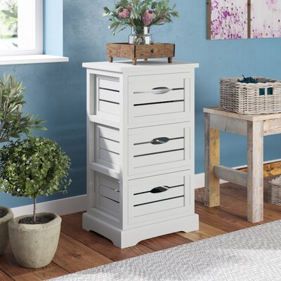 Loftis 3 Drawer Chest Color: Distressed Cream