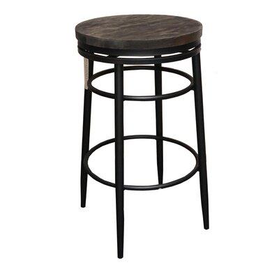"Albus 30"" Swivel Bar Stool Color: Black"
