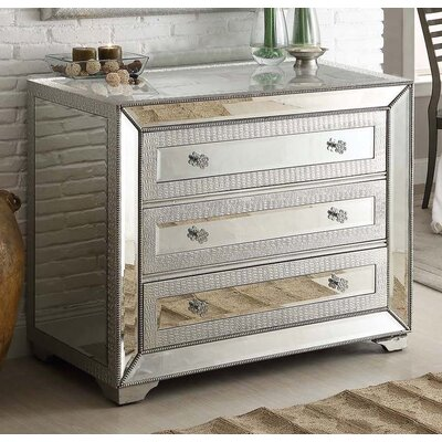 Quill Mirrored 3 Drawer Cabinet