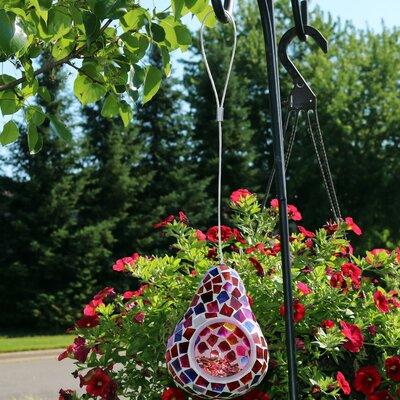 Ruby Mosaic Decorative Bird Feeder