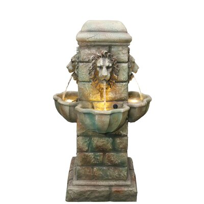 Resin/Polystone Fountain with Light