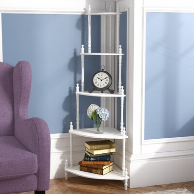 Ogden Corner Unit Bookcase Finish: White