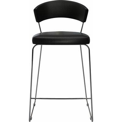 "Delancey 29.5"" Bar Stool Upholstery: Black"