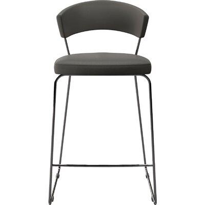 "Delancey 29.5"" Bar Stool Upholstery: Gray"