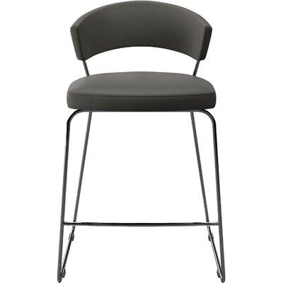 "Delancey 25.5"" Bar Stool Upholstery: Gray"