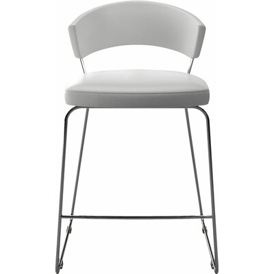 "Delancey 25.5"" Bar Stool Upholstery: White"