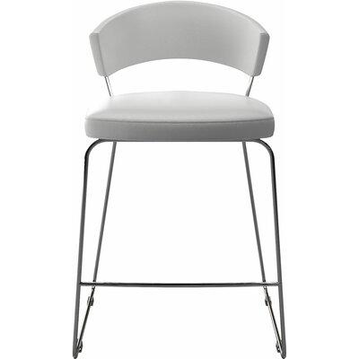 """Delancey 25.5"""" Bar Stool Upholstery: White"""