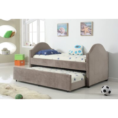 Swartz Trundle Twin Mate's and Captain's Bed Bed Frame Color: Gray