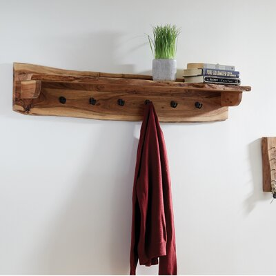 "Bexton Wall Mounted Coat Rack Size: 9"" H x 48"" W x 8"" D"