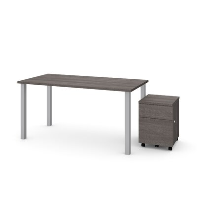 Ally 2 Piece Desk Office Suite Color: Bark Gray