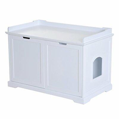 Elmira Cat Storage Litter Box Enclosure Color: White