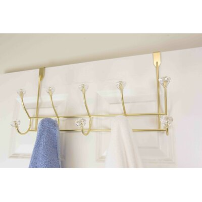Over the Door Wall Mounted Coat Rack Color: Gold