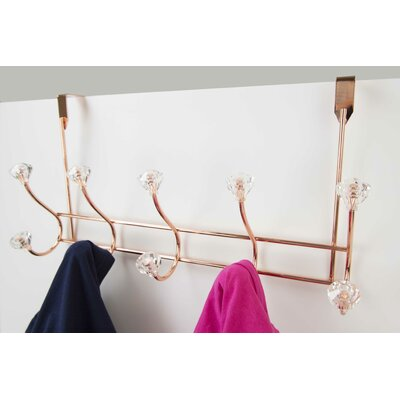 Over the Door Wall Mounted Coat Rack Color: Rose Gold