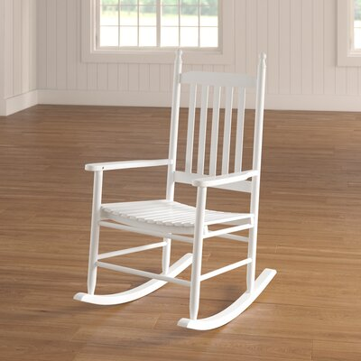 Dahlonega Slat Rocking Chair Frame Color: White