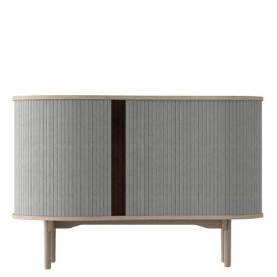 Nieves Accent Cabinet Finish: Silver Gray/Light Oak