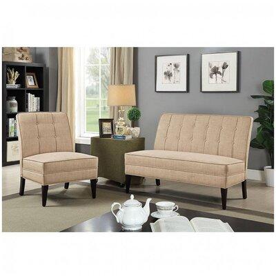 Derek Pardeep Upholstered Bench Upholstery: Beige