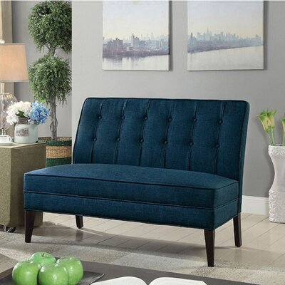 Derek Pardeep Upholstered Bench Upholstery: Dark Blue