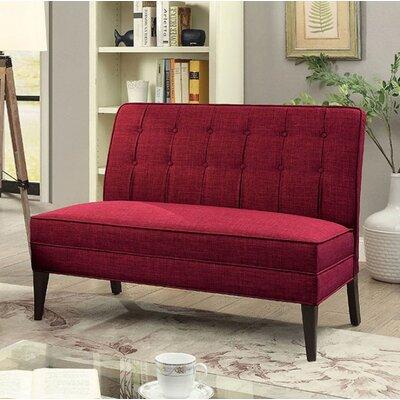 Derek Pardeep Upholstered Bench Upholstery: Red