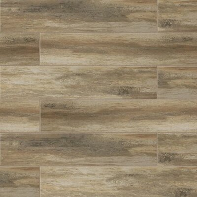 "Sun Valley 8"" x 24"" Porcelain Wood Look Tile in Matte Ciliegia"