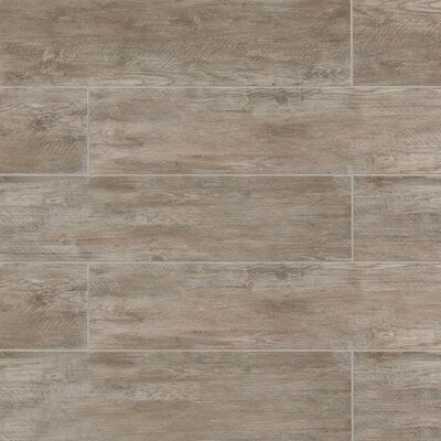 "Santa Monica 8"" x 36"" Porcelain Field Tile in Matte Taupe"