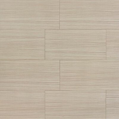 "Refined 12"" x 24"" Porcelain Field Tile in Polished Brown"