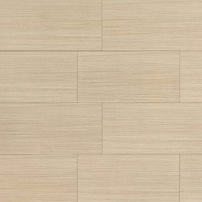 "Refined 12"" x 24"" Porcelain Field Tile in Polished Sand"