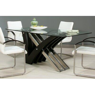 Boyce Dining Table Base Color: Wenge Veneer