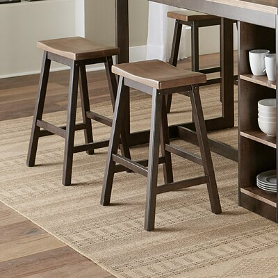 "Espanola 24"" Bar Stool Color: Walnut/Chocolate"