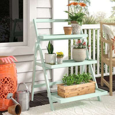 Goreville Modern Outdoor Multi-Tiered Plant Stand Color: Light Mint