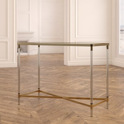 Ozzy Modern Rectangular Mirror Console Table