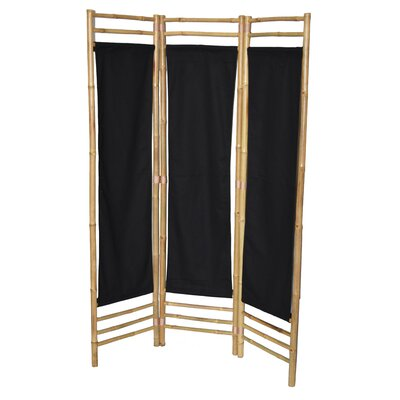 Rock 3 Panel Room Divider Color: Black