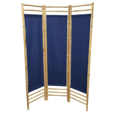 Rock 3 Panel Room Divider Color: Blue