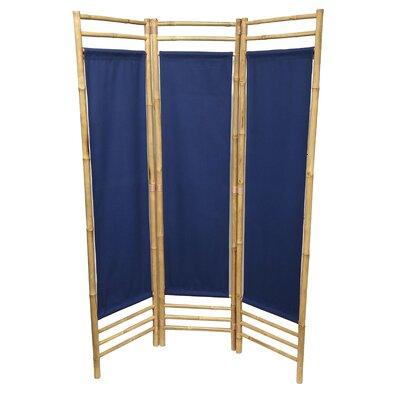 Rock 3 Panel Room Divider Color: Blue
