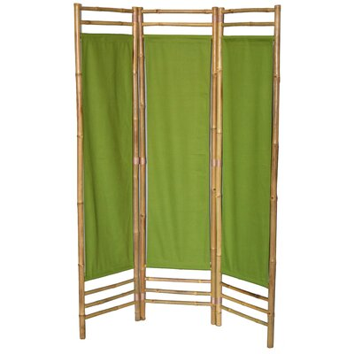 Rock 3 Panel Room Divider Color: Green