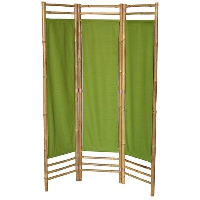 Rock 3 Panel Room Divider Color: Green