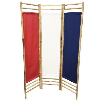 Rock 3 Panel Room Divider Color: Red/Blue