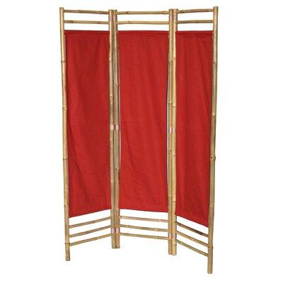 Rock 3 Panel Room Divider Color: Red