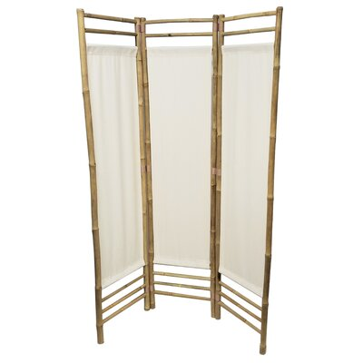 Rock 3 Panel Room Divider Color: White