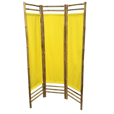 Rock 3 Panel Room Divider Color: Yellow