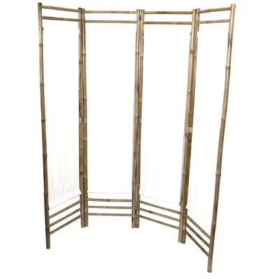 Rodgers 4 Panel Room Divider Color: White