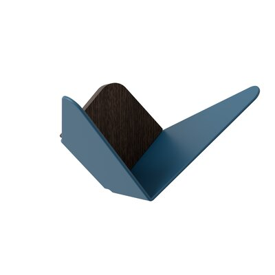 "Django Mini Wall Hook Color: Petrol Blue, Size: 3.3"" H x 6.7"" W x 3.6"" D"