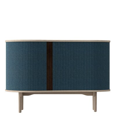 Nieves Accent Cabinet Finish: Petrol Blue/Light Oak