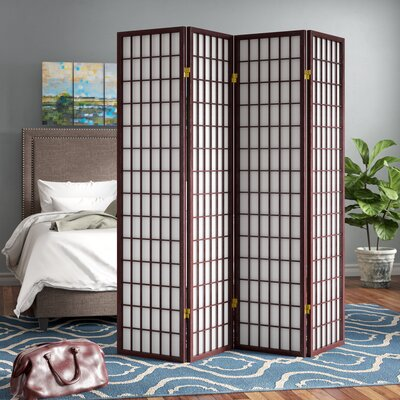Battle Creek 4 Panel Room Divider Finish: Cherry