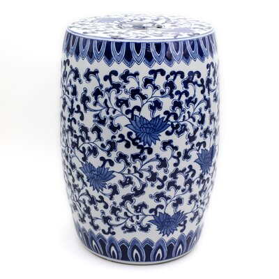 Angela Blue Lotus Garden Stool