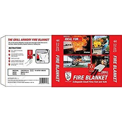"Small Emergency Blanket Fire Size: 1"" H x 11.6"" W x 7"" D"