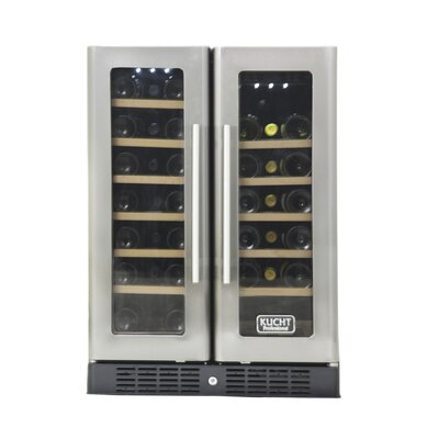 40 Bottle Professional Dual Zone Freestanding Wine Cooler