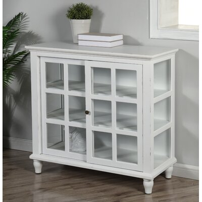 Archer Sliding 2 Door Accent Cabinet Color: Distressed White