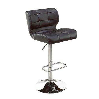 Dube Adjustable Height Bar Stool Color: Black