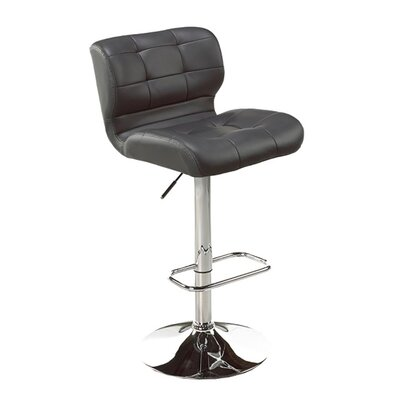 Dube Adjustable Height Bar Stool Color: Gray