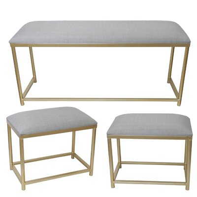 Schwartz 3 Piece Blake Metal Bench Set